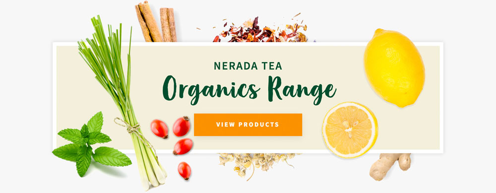 Nerada Tea Website Banner Design