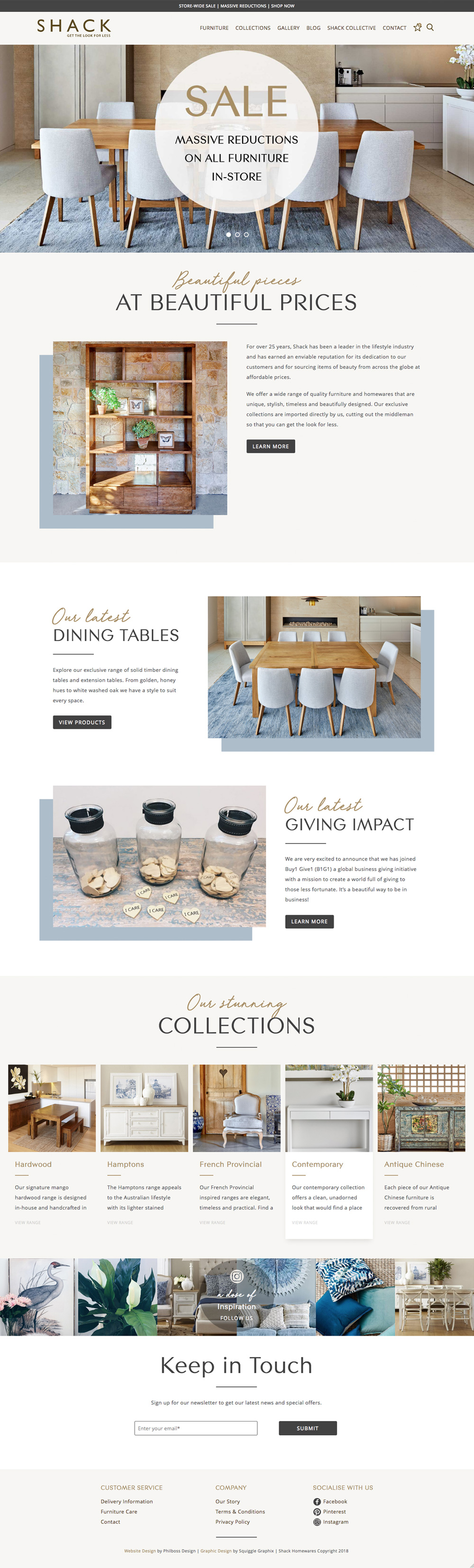Shack Furniture Website Redesign